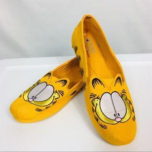 Skechers Bobs for Cat Fever Orange Garfield Shoes